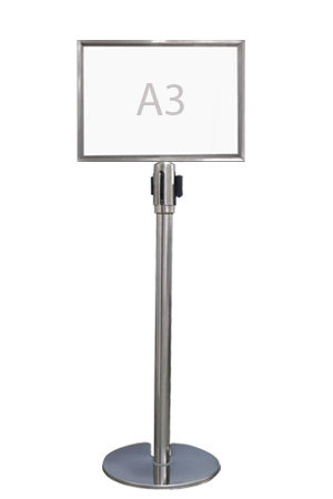 Queue Pole Signage – Landscape (A3)