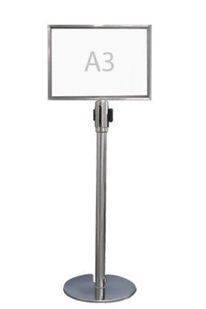 Queue Pole Signage – Landscape (A3)