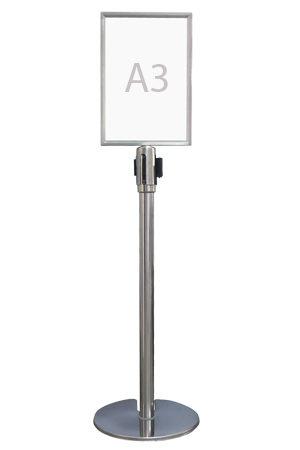 Queue Pole Signage – Portrait (A3)