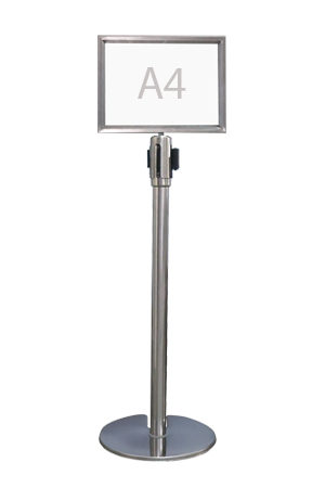Queue Pole Signage – Landscape (A4)