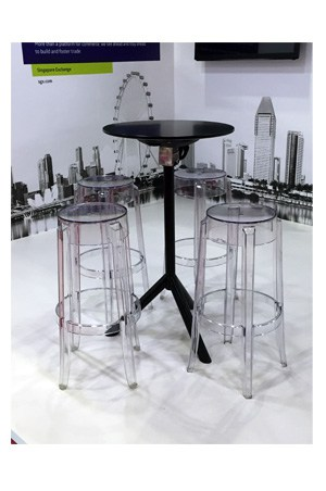 Replica miura bar table for Cocktail tables rental singapore
