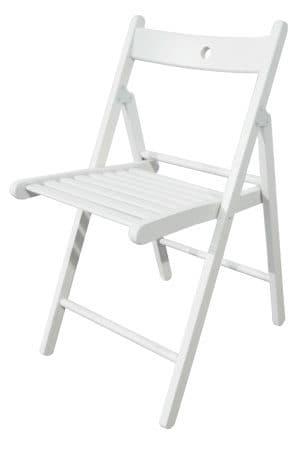 Classic White Folding Chair