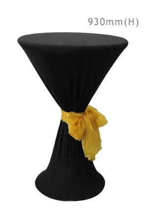 Bombo Table With Black Spandex & Gold Sash