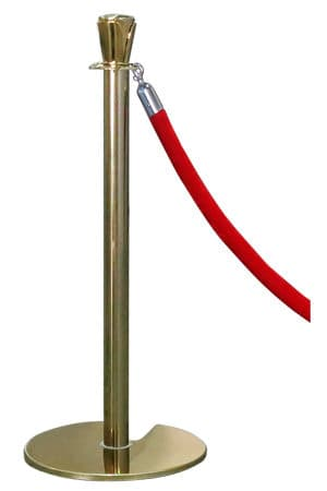 Classic Gold Pole With Red Rope