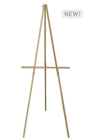 Wooden Easel Stand Slim