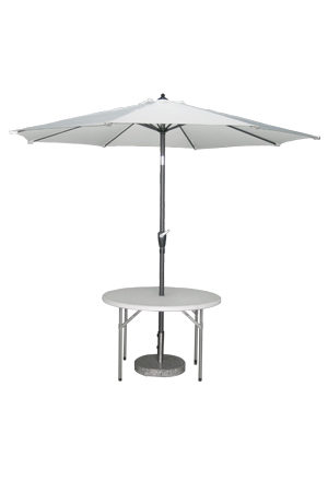 Classic Parasol with 4ft Round Table