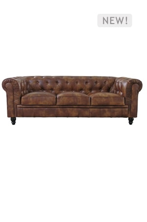 Vintage Chesterfield Sofa Three Seater